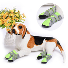 Pet dog Shoes Cat Puppy Shoes Anti-slip Comfortable Protective Special Boots Shoes For Small Dogs dog shoes Candy Colors(China)