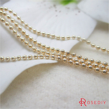 1 Meter 1.5MM 24K Champagne Gold Color Plated Brass Ball Chains Beads Chains Necklace Chains High Quality Jewelry Accessories