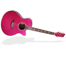 Avril Lavigne 40 Inch Size Bright Pink Acoustic Guitar