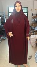 H1124a latest fashion big size muslim hijab dress with sleeve,pray dress with stones,mixed colors(China)