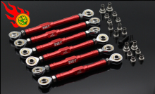 1/5 rc car gas GTB/ORC RACING FOR LOSI 5IVE-T MINI CNC front upper rear lower suspension tie rod + steering tie rod 6pc