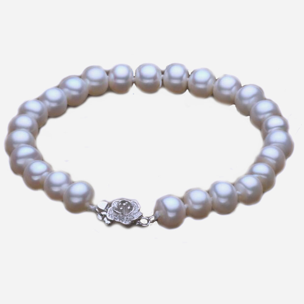 2017 Special Offer Women Classic New Style Perfectly Round Fashion Women's Freshwater Pearl Bracelet S925 4 Color Jewelry 8-9mm