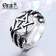 Buy BEIER stainless Steel Gothic Five Star CLaw Biker Ring Man Cheap Exclusive Sale Item WHOLESALE BR8-271 US Size for $2.99 in AliExpress store