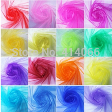 0.75*5M unit 18 corlors For Choose Sheer Mirror organza Stiff Fabric For Wedding Drape Decoration Discount