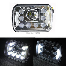 1pcs H4 7x6 inch 45W Led High/low beam used led truck headlight for truck van Dongfeng car