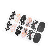 One Sheet DIY Nail Art Stickers Patch Wraps Fingers Nail Art Tips Decorations 16 Styles Nail Sticker Styling Tools For Makeup(China)