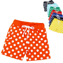 2-10Years Multi Color Toddler Girls Rruffle Shorts Baby Boy Dot Shorts Summer Kids Surf Shorts Children Shorts Garcon BK90(China)