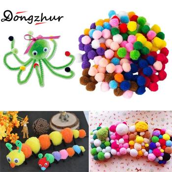 Dongzhur 2000 Pcs 8mm Crafts Round Shaped Pompom Mixed