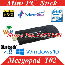 mini pc stick  windows 10 OS HDMI TV Player Quad Core Intel Atom Mini PC Stick MeeGoPad T01 Upgraded Media Player