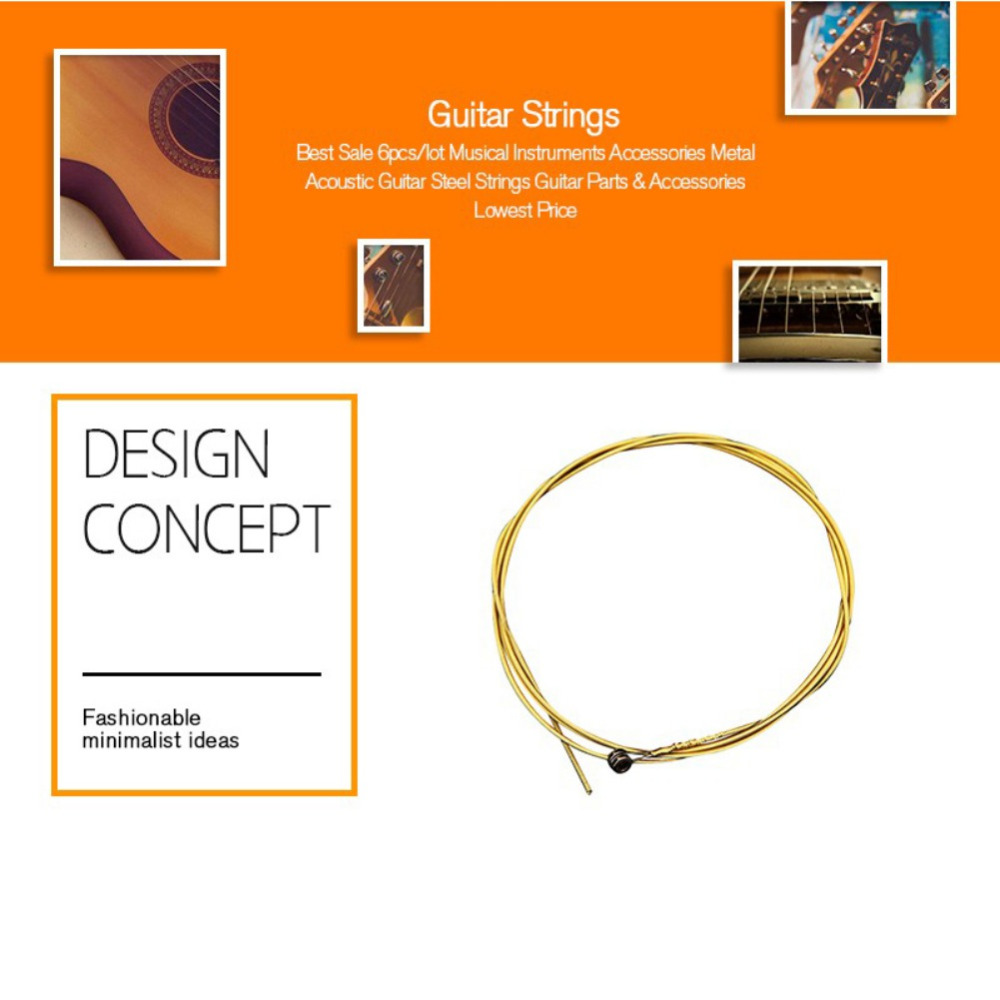 Acoustic Guitar String 6 Pcs Set Silver Pure Strigning For Guitarra Strings Diagram Getsubject Aeproductgetsubject