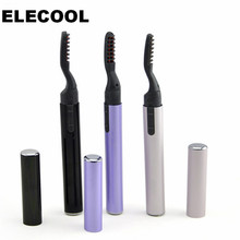 ELECOOL Electric Eyelash Curler 360 Rotary Heated Eyelashes Curling Brush Mascara Cream For Beauty Makeup Tool(China)