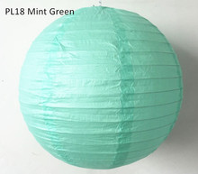 15cm(6inch) 8pcs/lot Mint Green Wedding Rice Paper Lampions Lanterns Balls Hanging Birthday Parties Holiday House Decorations
