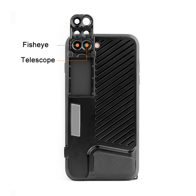 18 New Arrival Dual Camera Lens For iPhone X 8 Plus Fisheye Wide Angle Macro Lens For iPhone 7 Plus Phone Case Telescope Lens 14
