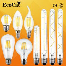 LED Edison Bulb E27 LED lamp E14 220V Antique Retro Vintage Filament Light Glass Bulb Lamps 2w 4W 6w 7w 8W Light Lamp(China)
