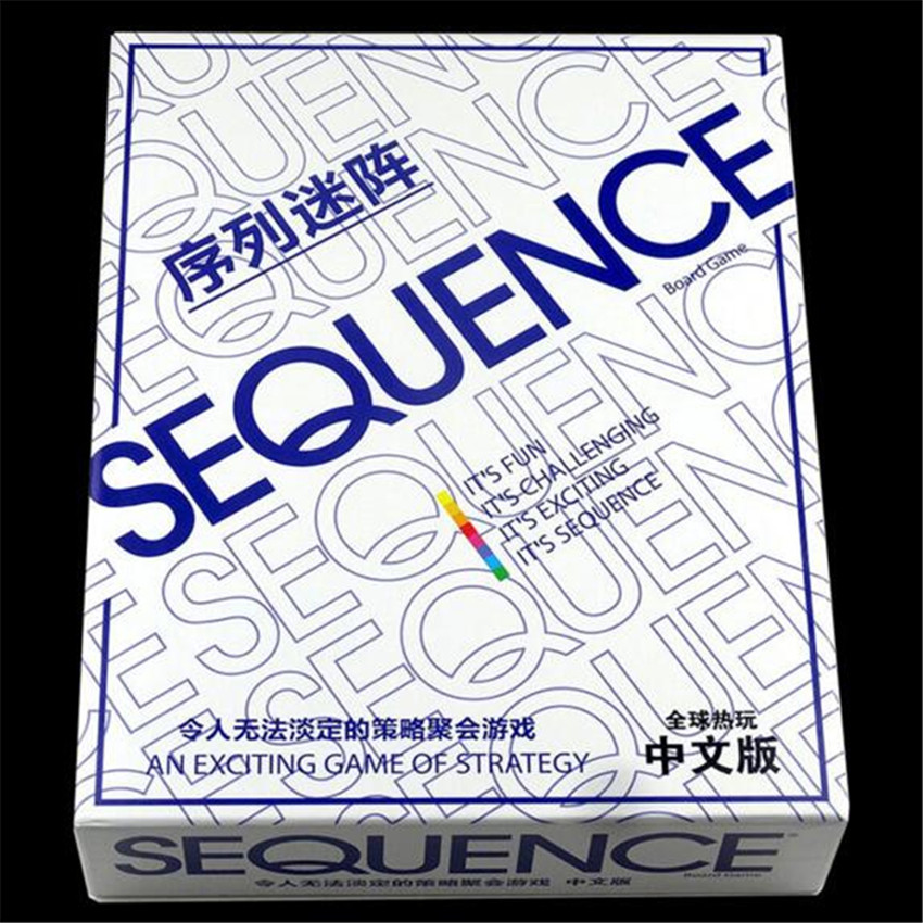 Sequence Board Game Suitable For 2-12 Players Family Game<br>