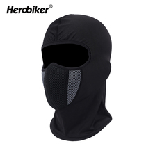 HEROBIKER Face Mask Motorcycle Hats Windproof Tactical Face Shield Helmet Beanies Training Mask Cycling Ski Moto Balaclava Caps