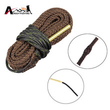 Bore Cleaner Gun Brushes 17 Cal .177 Cal .17HMR .17WMR & 4.5mm Gun Rifle Cleaner Kit Rope for Hunting Pistol Rifle G05