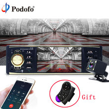 Podofo 4'' Car Radio Audio Stereo TFT Screen 1 Din MP3 Car Audio Player Bluetooth With Rearview Camera Remote Control USB FM(China)