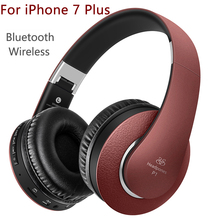 Headphones with Mic for iPhone 7 Plus Wireless earphone for TV mp3 player Bluetooth Headphone for Girls auriculares casque audio(China)