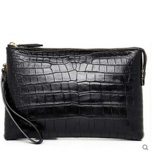 hlt crocodile leather men clutch bag male real crocodile leather goods crocodile envelope hand grab a large volum(China)