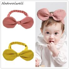 Naturalwell Baby Girls Hair Accessories Minnie Mouse Ears Bow Headband Kids Hairband Party Hair band Wedding Headdress HB069(China)