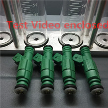 "Test video enclosed 8 pcs ""Green Giant "" 440cc fuel injector 42lbs 0280155968 0280 155 968 for volvo audi TT s4 1.8T"