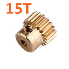 11185 Motor Gear 15T Metal Brass Pinion HSP Parts For 1/10 Electric Model Car 4WD Monster Truck 94111 Pro Hobby Baja Himoto