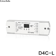 4 channel PWM current receiver DMX512 decoder led controller dmx signal driver with digital display DC12-48V input