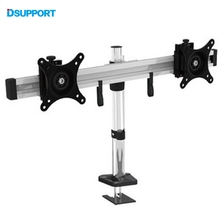 "MP220G Top Selling 15""- 24"" Full Motion Rotating Dual Screen LED LCD Monitor Holder Grommet Desktop Mounting Arm Bracket(China)"