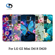 Colorful Painted Rose Peony Beautiful Flower Floral Drawing Hard Plastic Case For LG G2 Mini D618 D620 Skin Back Cover