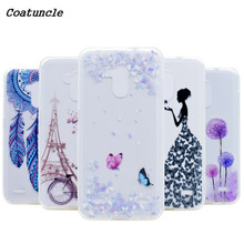 "Transparent Soft Silicone TPU Phone Case For ZTE Blade V7 Lite 5.0"" Back Cover Tower bicycles Painted Pattern For ZTE V 7 Lite"