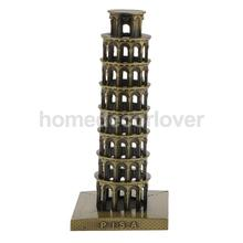 Leaning Tower of Pisa Model Home Decor Metal Craft Furnishing Articles Famous Building Models 15.5CM