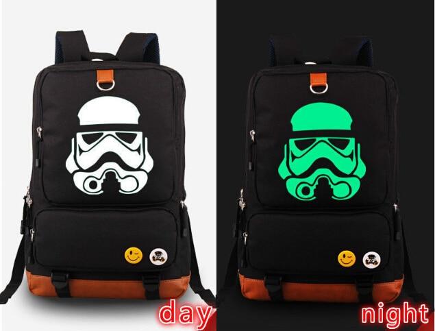 Star Wars backpack Darth Vader Stormtrooper Backpack Noctilucence School Bag New<br>