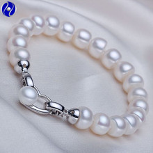 "100% Natural Freshwater Pearl Bracelet bangles, 18cm(7.1"") or 19cm(7.5"") or 21cm(8.3""), wedding gift, double use(China)"