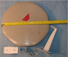 Free shipping 26cm ku band mini satellite dish antenna build-in lnb HD Vision for Europe(China)