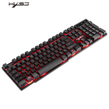 Russian 3 Colors Glow LED USB Backlit Wired Gaming Keyboard Ergonomic Design for Computer Mac PC
