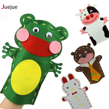 16 Style New design DIY Easy Crafts Non-Woven Cloth Animal Hand Puppet Kids Child Creative Activity DIY Sewing Toys(China)