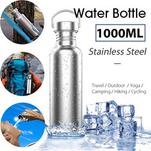 Buy Stainless Steel Drinking Water Bottle Wide Mouth Drink Bottles Kettle Leak-proof Outdoor Travel Sports Riding Yoga Cycling BPA for $10.16 in AliExpress store