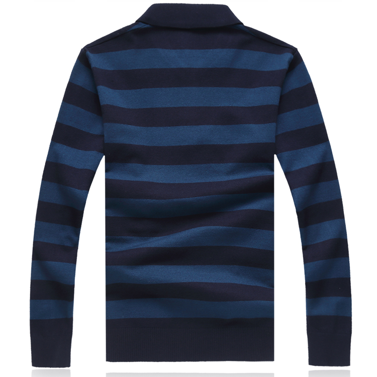 LONMMY Sweater men Blusa masculina inverno pullover men clothes 2019 mens sweater Long sleeves Lapel collor stripes Wool blend