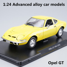 1:24 Advanced alloy car models,high simulation  Opel GT Sports car model,metal diecasts,children's toy vehicles,free shipping