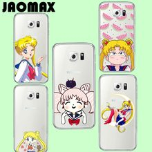 Jaomax Cute Japan Cartoon Girl Sailor Moon Case For Samsung Galaxy S3 S4 S5 S6 S7 EDGE Transparent Soft Silicone Luxury Cover
