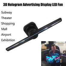 NEW Arrival Hot Sale 3D Hologram Advertising Display LED Fan Holographic Imaging 3D Naked Eye LED Fan(China)