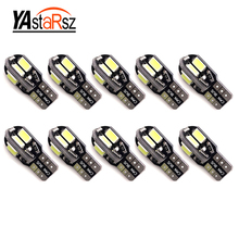 Super Bright!! 10 X T10 W5W T10 led canbus 194 168 5730 t10 8SMD Canbus NO ERROR 12V Car Auto Bulbs Indicator Light Parking Lamp(China)