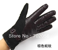 winter ladies Genuine Leather gloves skin gloves LEATHER GLOVES mixed color 12pairs/lot #3127