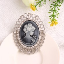 European Style Vintage Beauty Brooches CZ Diamond Brooch Pins For Women Wedding Fashion Accessories Wholesale Price