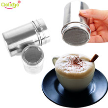 Delidge 1 pc Multifunction Chocolate Cocoa Coffee Powder Blender Stainless Steel Saltcellar Pepper Dusting Pot Kitchen Tools(China)
