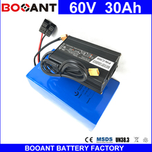 BOOANT 60V 30AH E-Bike Li-ion Battery packs 18650 cell For Bafang 1400W Motor Electric Bicycle Battery with 5A Charger 30A BMS(China)