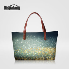 Dispalang Galaxy Stars Women's Handbag Starry Sands Pattern Ladies Party Totes Large Capacity Shopping Shoulder Bags Bolsa Playa(China)