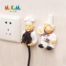 MAIKAMI Cook Design New Storage Shelf Holder Power Plug Holders Rack Socket Wall Mounted Adhesive Hanger Kitchen Accessories(China)