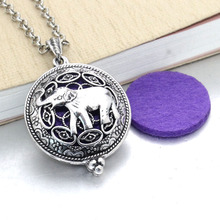 2 pcs Aroma Diffuser Necklace Open Antique Lockets Pendant Perfume Essential Oil Aromatherapy Locket Necklace With Pads 031211